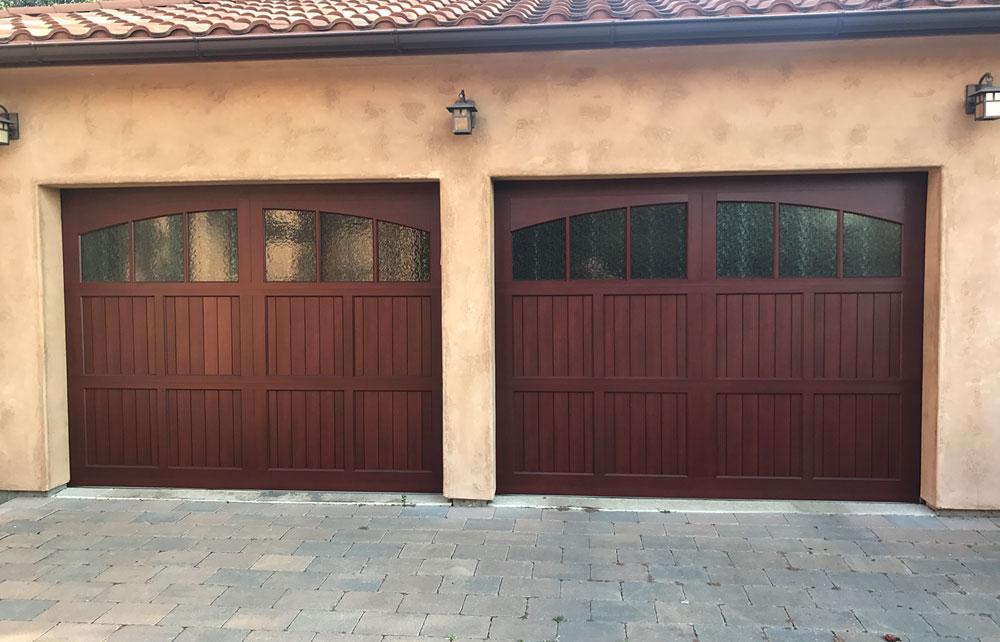 Mediterranean garage door gallery artistic garage doors for Garage door gallery